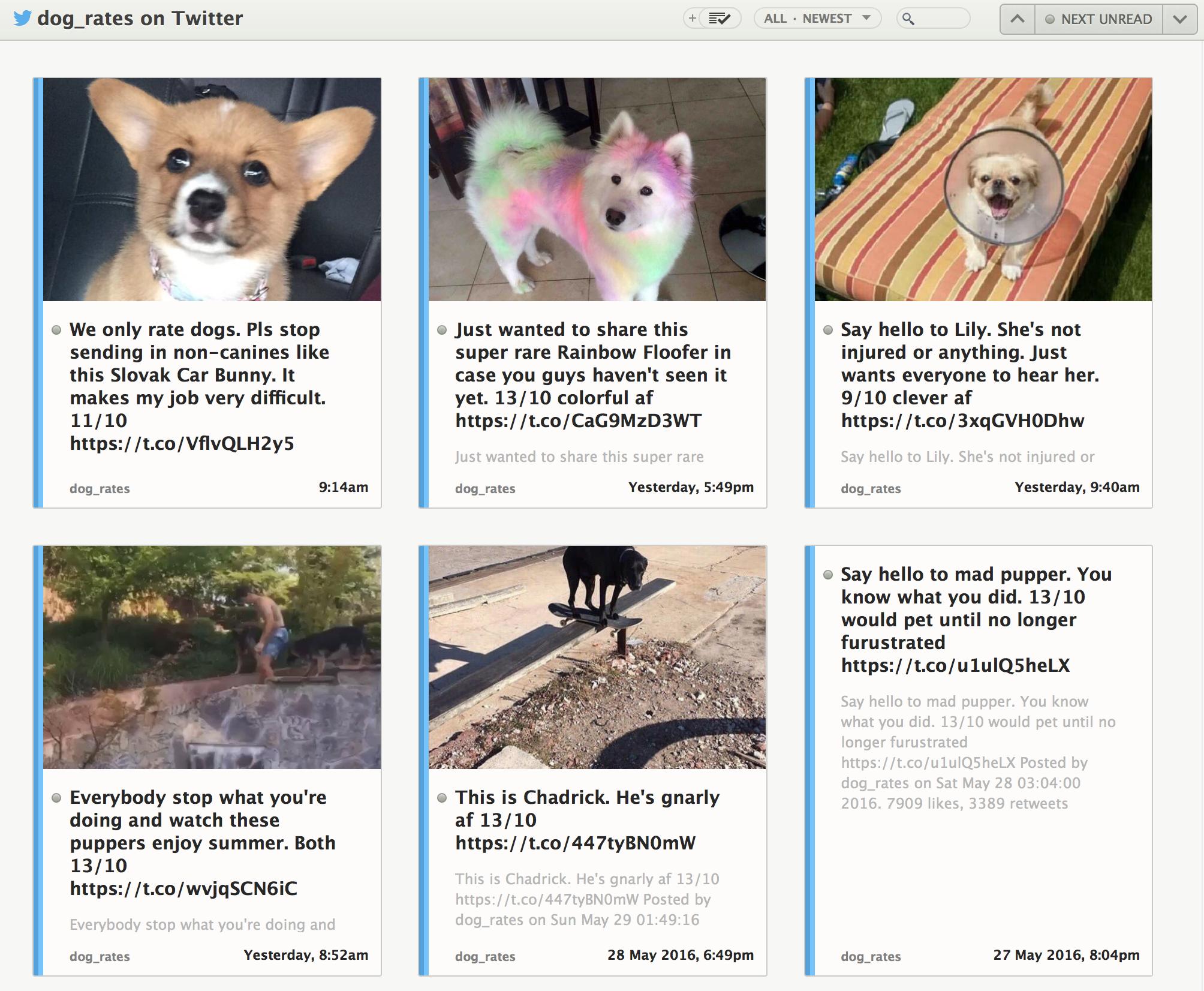 the newsblur blog